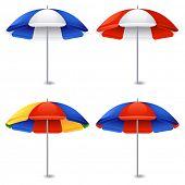 Vector illustration - Beach umbrella on white