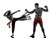 two manga video games martial arts fighters fighting combat in silhouettes on white background