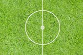 A Realistic Textured Grass Football / Soccer Field