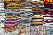 Colorful Stacked Fabric In  Big Market , India