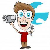 An image of a videographer man.