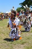 Unidentified Native American dancers at the NYC Pow Wow