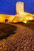 image of serbia  - Belgrade fortress and Kalemegdan park at night Belgrade Serbia - JPG