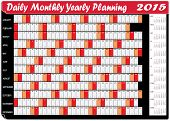 Planning Chart Of Daily Monthly Yearly 2015