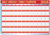 Planning Chart Of All Daily Monthly Yearly 2015