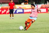 Sisaket Thailand-june 21: Somsak Wongyai Of Sisaket Fc. In Action During A Training Ahead Thai Premi