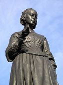 stock photo of statistician  - Victorian memorial statue of Florence Nightingale 1820 - JPG