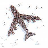 Symbol of airplane.