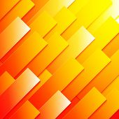 Abstract red, orange and yellow paper rectangle shapes background