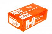 Hayward, CA - November 26, 2014: Box of 100 Hornady Brand .375 caliber Bullets for Reloading ammunition