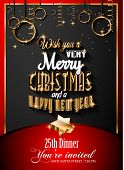 stock photo of generic  - 2015 New Year and Happy Christmas background for your flyers - JPG
