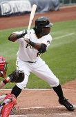Lastings Miledge of the Pittsburgh Pirates