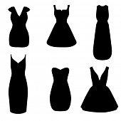 foto of little black dress  - Set of woman little black dresses - JPG