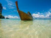 Long tailed boat Ruea Hang Yao in Phuket Thailand