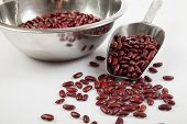 Red Kidney Beans With Scoop And Bowl