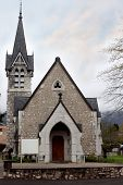 Small Catholic Church In The Gothic Style
