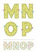 image of letter n  - Easy alphabet maze games for kids  - JPG
