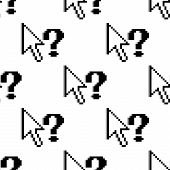 Seamless pattern of arrows and question marks