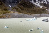 stock photo of hookers  - Hooker Lake in Mount Cook National Park New Zealand - JPG