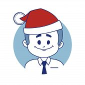 Icon with christmas character Santa.