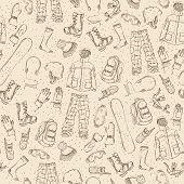 Seamless sketch pattern.