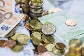 Euro Coins (close-up Shot)