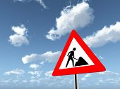 Warning Sign Road Works