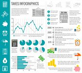 Tax infographics set