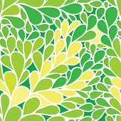 Seamless pattern. Foliate background in green colors