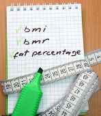 bmi, bmr and fat percentage