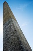 pic of obelisk  - View from the base up the obelisk of Washington - JPG
