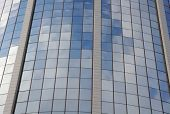 Sky Reflection In Hotel Building Glass