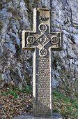 pic of dracula  - bran romania dracula castle medieval stone cross - JPG