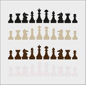 stock photo of chess piece  - vector set of chess - JPG