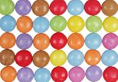 Multicolor Candy Pills Isolated