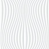 White seamless texture. Wavy background. Interior wall decoration. 3D Vector interior wall panel pattern. Abstract grey and white background of wavy lines. Vector white background of abstract waves.