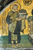 Justinian Offering A Model Of The Church, Hagia Sofia
