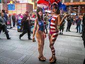 Patriotic Ladies Times Square