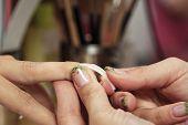 Gluing Nails On Finger
