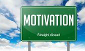 Motivation on Highway Signpost.