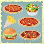 Retro Style Fast Food Designs