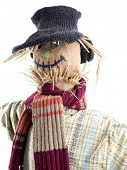 Scarecrow against the white background