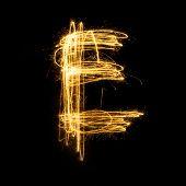 Sparkler Firework Light Alphabet E.