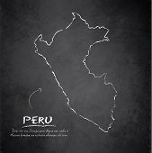 Peru map blackboard chalkboard vector