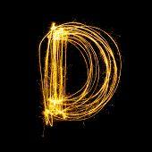 Sparkler Firework Light Alphabet D.