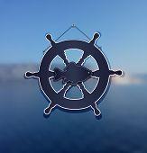 background sea rudder fish water blue raster