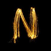 Sparkler Firework Light Alphabet N.