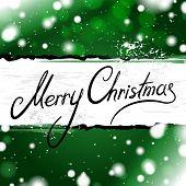 Green Merry Christmas card