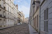 Quiet residential street in Montparnasse, Paris