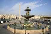 Place De La Concorde Fountain And Obelisk